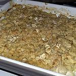 recette Blancs de dinde gratiné au crumble de parmesan et flocons d'avoine