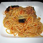 recette Pasta à la sauce tomate  et aux aubergines