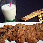 recette Cookies cappuccino aux éclats de Toblerone et pépites de chocolat