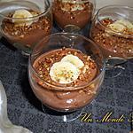 recette Crèmes chocolat-banane sans oeuf ni laitages