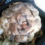 recette chou fleur a la vapeur sauce champignon