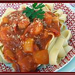 recette Crevettes à la sauce tomate