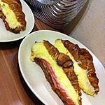 recette Croissants ( jambon, béchamel, émmental )