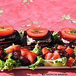 recette Mille-feuilles de crudités au thon