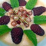 recette Soupe de melon et sa nage de fruits du jardin (groseilles, fraises, framboises)
