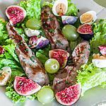 recette Salade de filets de canard aux figues et aux raisins