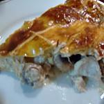 recette tourte champignon,poulet