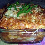 Lasagnes individuelles au poulet & poireaux