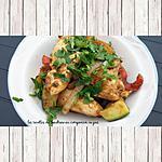 recette Poulet et légumes croquants marinés au curry rouge à la plancha