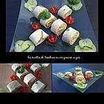 recette Wrap d'été concombre avocat miettes de crabe