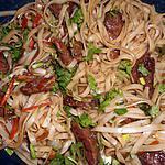 recette Nouilles de riz sautées au magrets de canard