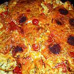 recette Clafoutis chévre,chorizo,tomates cerise