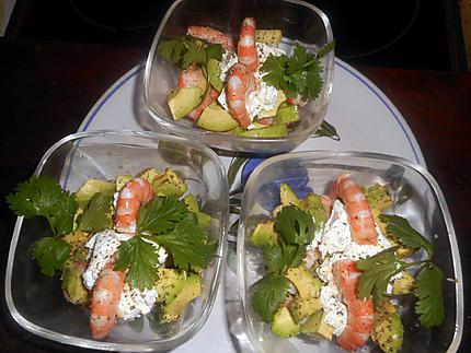 recette de verrines d avocat crevettes chevre frais. Black Bedroom Furniture Sets. Home Design Ideas
