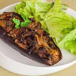 recette Aubergines farcies aux champignons
