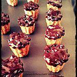 recette Bouchées de flocons d'avoine au miel, caramel, nappées de chocolat