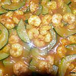 recette crevettes aux courgettes