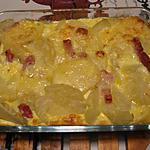 recette Gratin du soir aux restes de pommes de terre cuites