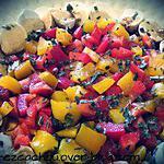 recette Salade Poivrons Mozzarella