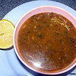 recette Soupe marocaine (HARIRA) aux lentilles
