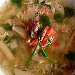 recette Soupe à l'asperge et au crabe