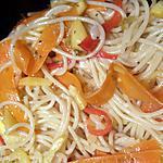 recette Spaguetti aux légumes