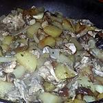 recette Poêlé de pommes de terre au coulemelles