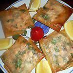 recette Bricks au saumon