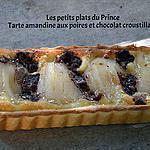 recette TARTE AMANDINE AUX POIRES ET CHOCOLAT CROUSTILLANT