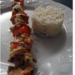 recette Brochettes de poissons épicés