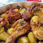 recette Poulet au paprika sur son lit de légumes