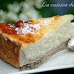 recette Tarte au flan et à la noix de coco