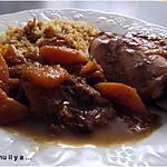 recette Tajine de poulet au potimarron et raisin