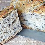 recette Pain cocotte sans pétrissage à la farine de lin et graines de lin