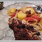 recette Cuisse de dinde à la moutarde cuite au four