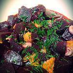 recette Salade de betteraves, oranges et aneth