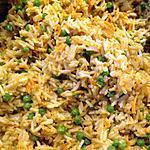 recette Carottes, riz et petits pois épicé au curry en accompagnement