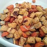 recette Carottes et navets boule d'or rôtis au four