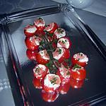 recette Tomates à la crème de saumon