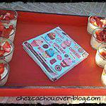 recette Verrine de millet au chocolat blanc et fraises