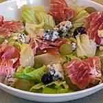 recette Salade de jambon au roquefort et raisins