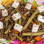 recette Salade de lentilles aux haricots verts et à la fêta