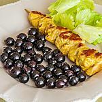 recette Brochettes de dinde aux raisins frais
