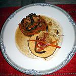 recette Blancs de volaille et sa semoule aux légumes croquants…