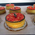 recette Flans de courgettes aux poivrons confits...