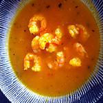 recette Soupe potimarron et crevettes