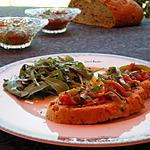 recette Bruschetta au concassé de tomates...