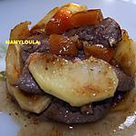 recette Aiguillettes de canard aux pommes et abricots