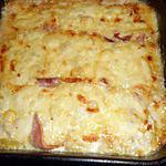 recette Gratin de poireaux au jambon et fromage a raclette