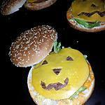 recette Hamburger citrouille d'hallowen