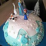 recette Gâteau d'Anniversaire La Reine des Neiges